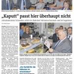 Pressebericht Iserlohner Kreisanzeiger Ministerbesuch, Dienstag 14. Juli 2015